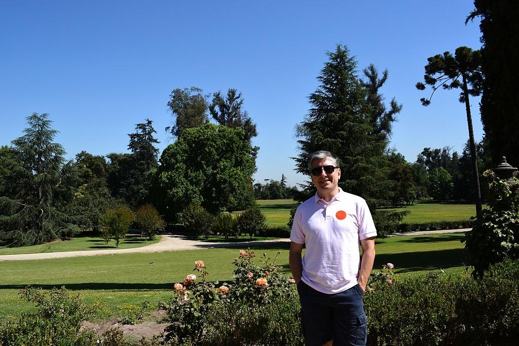 Os jardins da residência Concha y Toro estendem-se a perder de vista