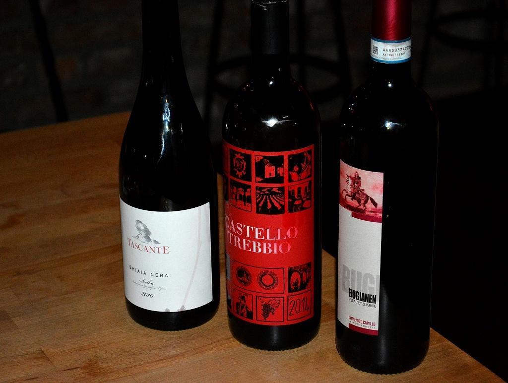 Vinhos que bebemos no Facciola