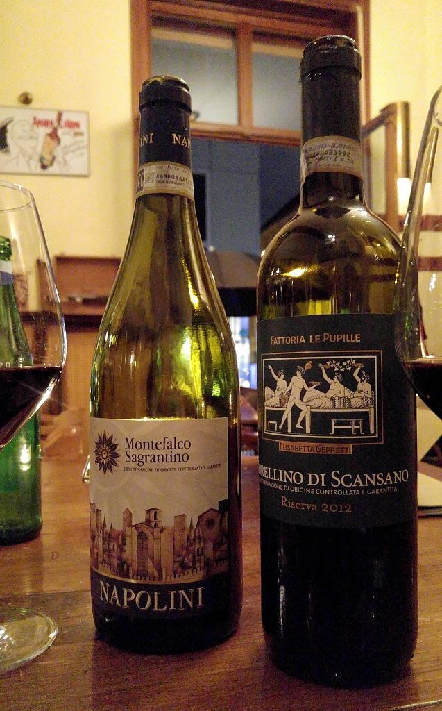 Montefalco Sagrantino Napolini e Morellino di Scansano Riserva 2012