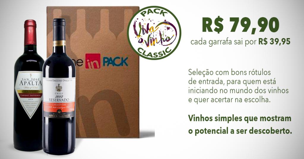 Pack Viva o Vinho Classic - Wine in Pack