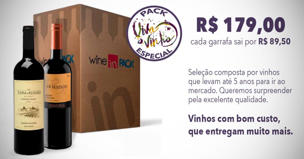 Pack Viva o Vinho Especial - Wine in Pack