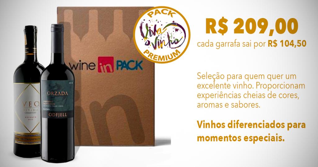 Pack Viva o Vinho Premium - Wine in Pack