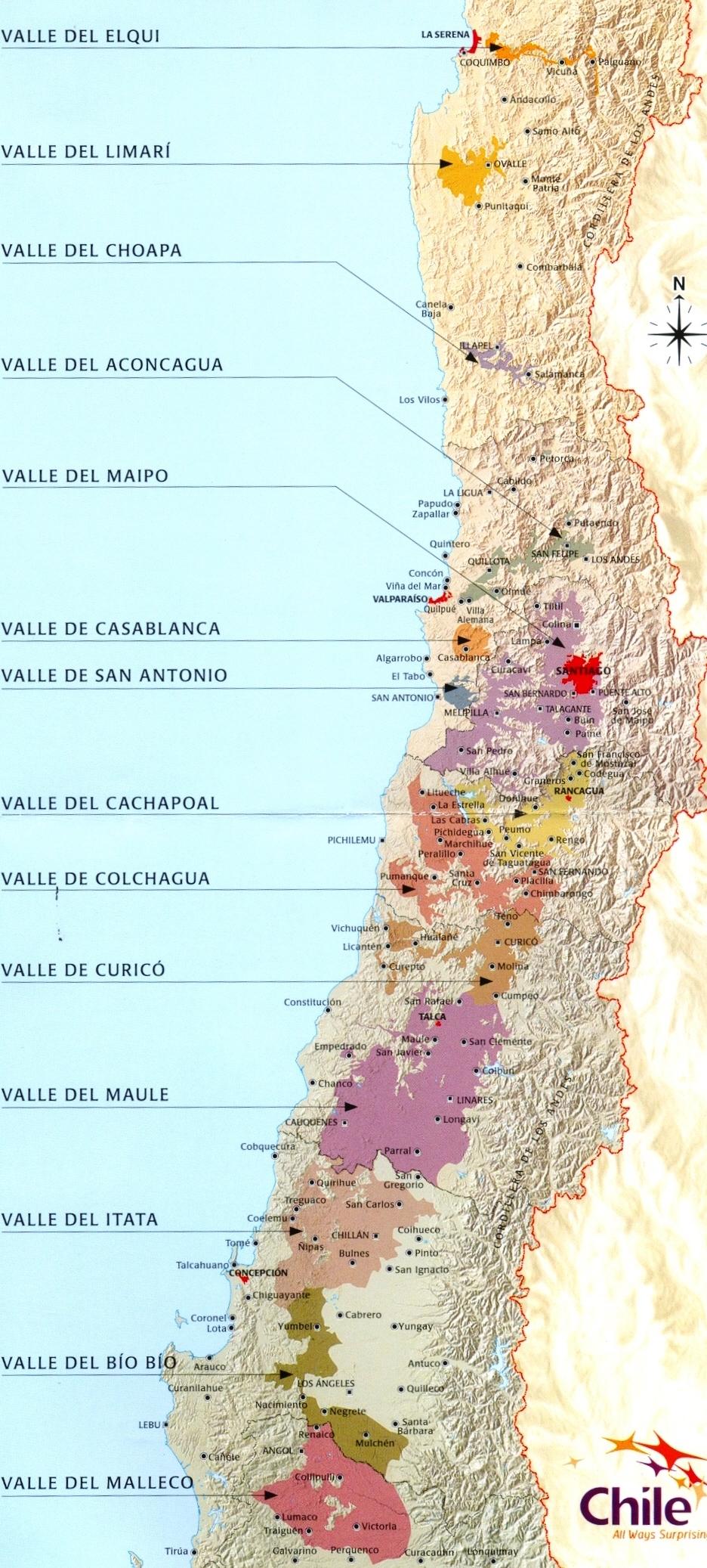 Regiões Vinícolas do Chile - Viva o Vinho