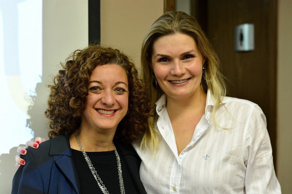 Renata e Michelle Sani Borella, diretora de Marketing da Vinícola Helios