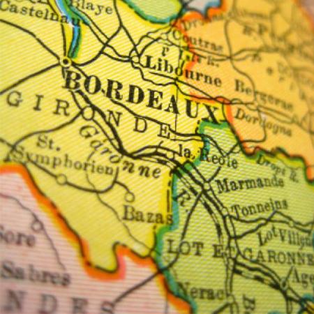 Mapa de Bordeaux, França