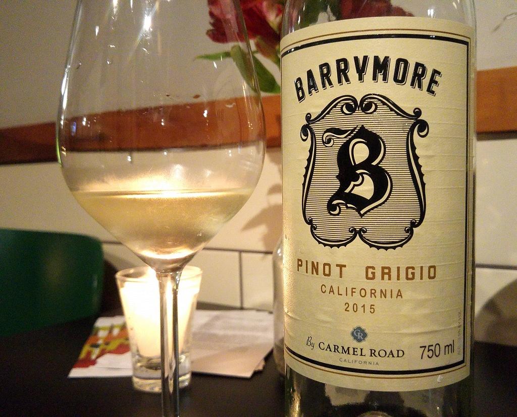 Barrymore Pinot Grigio 2015, by Carmel Road - Viva o Vinho
