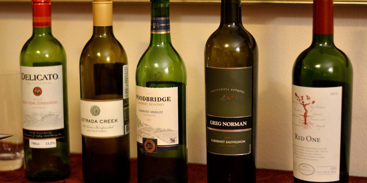 Que vinhos a Califórnia tem?
