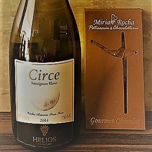 Circe Sauvignon Blanc com Chocolate ao Leite com Sal