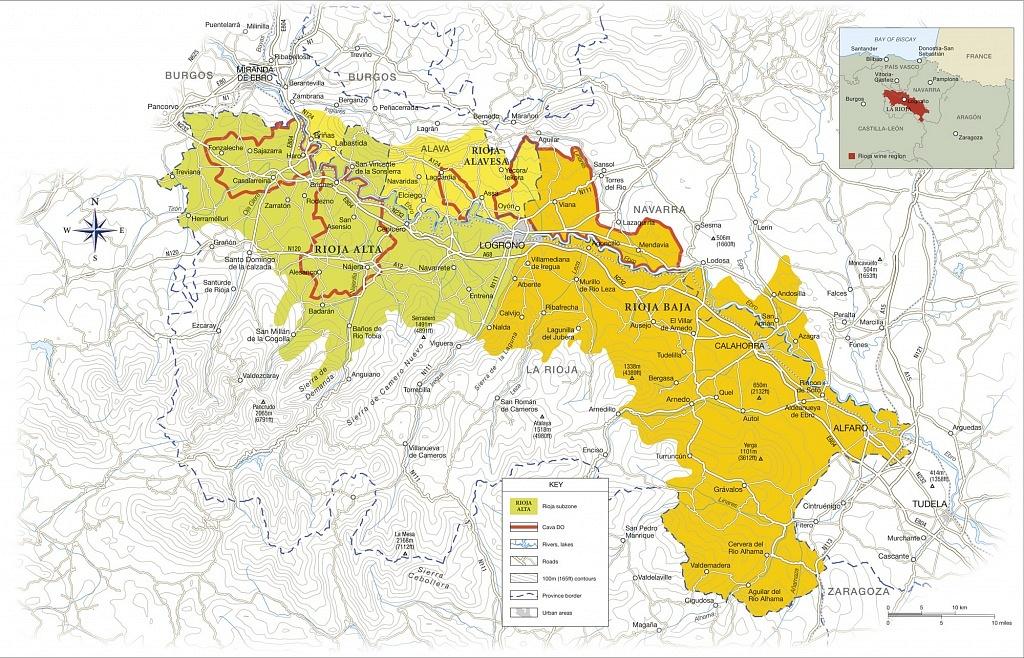 Mapa de Rioja, Espanha