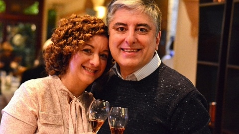 Emanuel e Renata - Embaixada Enogastronômica Italiana da Liguria na Vinheria Percussi - Viva o Vinho