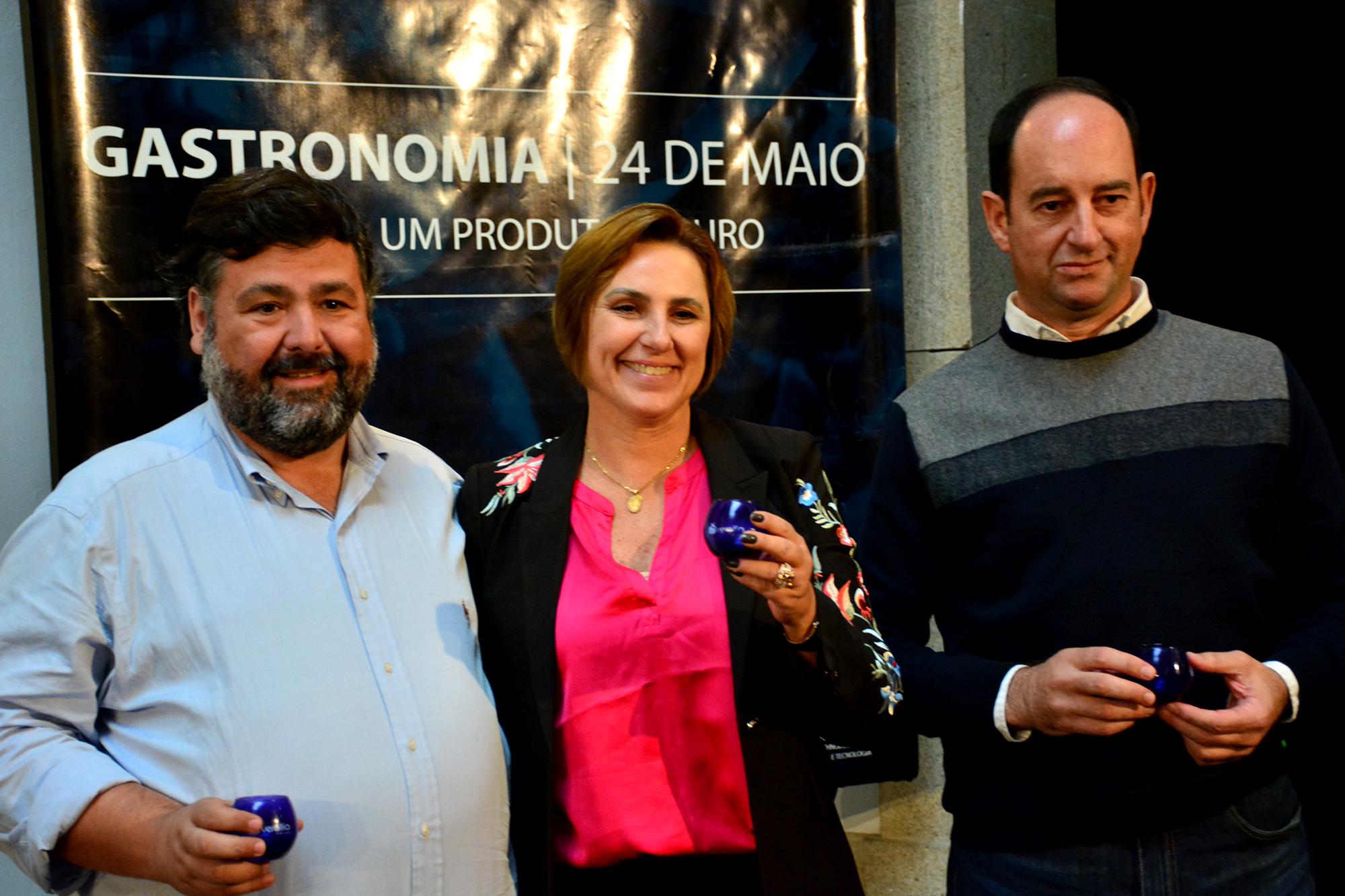 Francisco Pavão, Patricia Galasini e Edgardo Pacheco no Douro TGV
