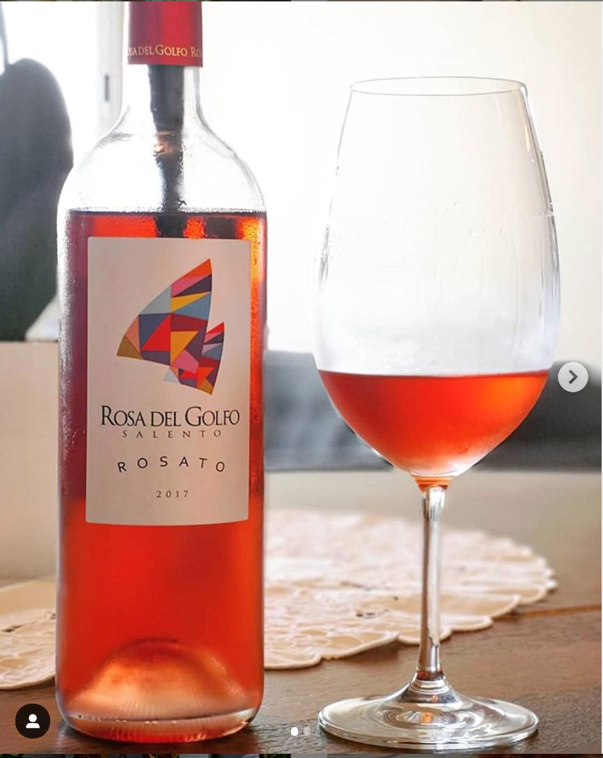 Rosa del Golfo Salento Rosado 2017 - Viva o Vinho